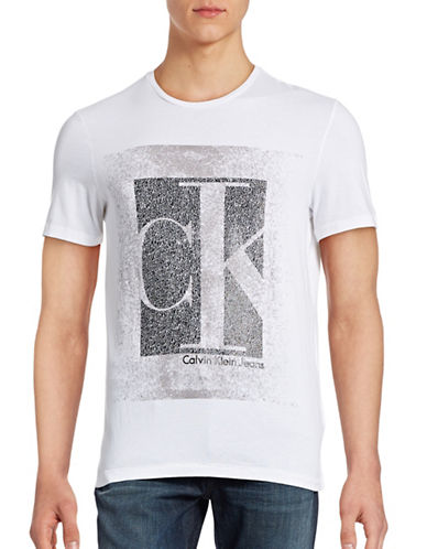 Calvin Klein Jeans Graphic Cotton T-Shirt-WHITE-X-Large 88568301_WHITE_X-Large