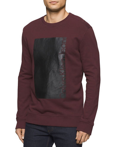 Calvin Klein Jeans Box Knockout Sweatshirt-RED-Medium