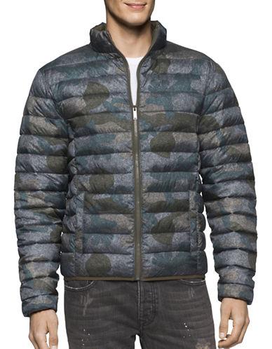 Calvin Klein Jeans Camo Print Puffer Bomber Jacket-GREEN-Small 88909568_GREEN_Small