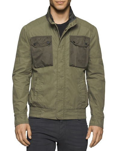 Calvin Klein Jeans Combo Utility Jacket-GREEN-Small 88630280_GREEN_Small