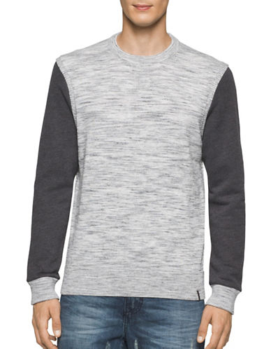 Calvin Klein Jeans Space Dye Heathered Sweater-GREY-X-Large 88844219_GREY_X-Large