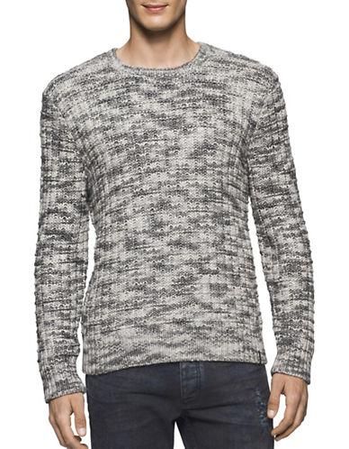 Calvin Klein Jeans Basket Rope Crew Neck Sweater-GREY-Medium 88909589_GREY_Medium
