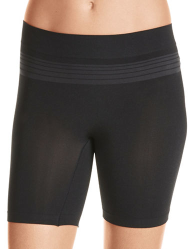 Warner'S Seamless Sleek Shorts-BLACK-2X