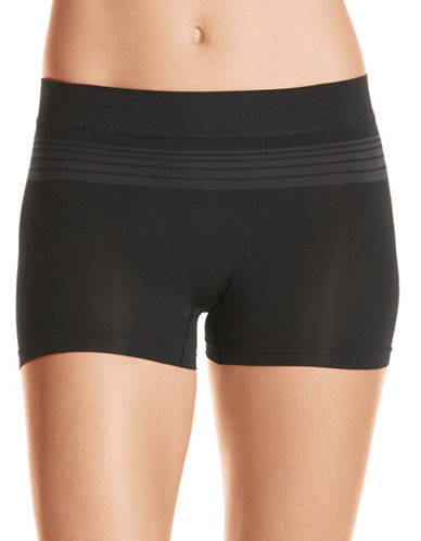 WarnerS Seamless Boyshorts-BLACK-Small