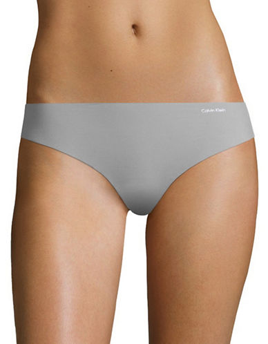 Calvin Klein Enthrall Invisibles Thong-GREY-Large