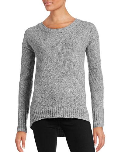 Calvin Klein Jeans Hi-Lo Tunic Sweater-GREY-Large 88799803_GREY_Large