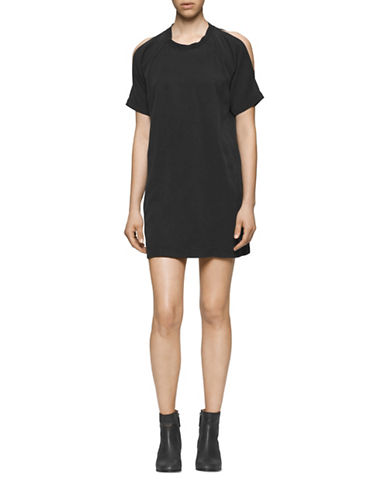 Calvin Klein Jeans Garment Dyed Twill T-Shirt-BLACK-Small 88707947_BLACK_Small