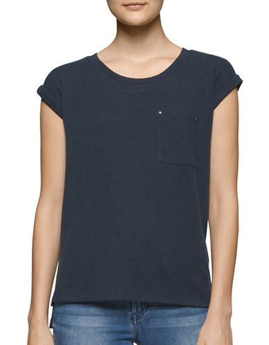 Calvin Klein Jeans Knit Patch Pocket T-Shirt-BLUE-Small 88707952_BLUE_Small