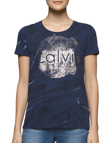 Calvin Klein Jeans Animal Infinite Foil Logo T-Shirt-BLUE-Small 88707957_BLUE_Small