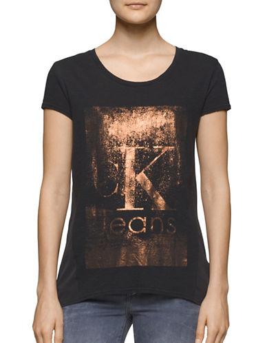 Calvin Klein Jeans Foil Logo T-Shirt-BLACK-Large 88707969_BLACK_Large