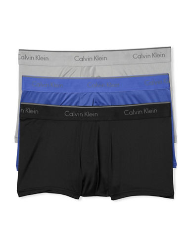Calvin Klein Microfibre Stretch Three-Pack Low-Rise Trunks-MULTI-Small