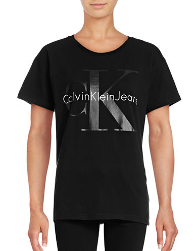 Calvin Klein Jeans Cotton Logo T-Shirt-BLACK-Small 88799829_BLACK_Small