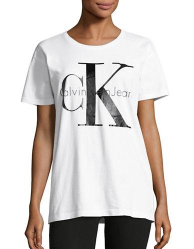 Calvin Klein Jeans Cotton Logo T-Shirt-WHITE-Large 88799835_WHITE_Large