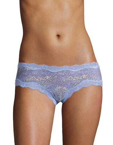 Calvin Klein Printed Lace-Trim Cheeky Hipsters-BLUE MULTI-Large 88856966_BLUE MULTI_Large