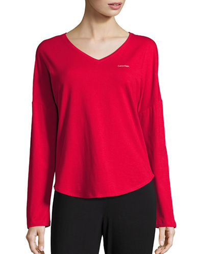 Calvin Klein Long Sleeve Top-RED-Medium 88758147_RED_Medium