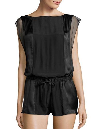 Calvin Klein Temptation Panelled Silk Romper-BLACK-Large 88798604_BLACK_Large
