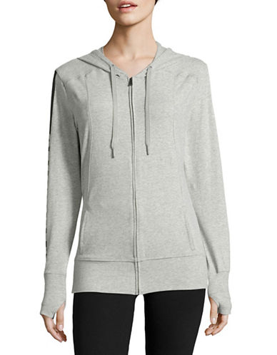 Calvin Klein Logo Zip-Up Hoodie-GREY-Small 88815257_GREY_Small