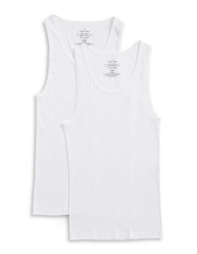 Calvin Klein Two-Pack Tank Tops-WHITE-Large