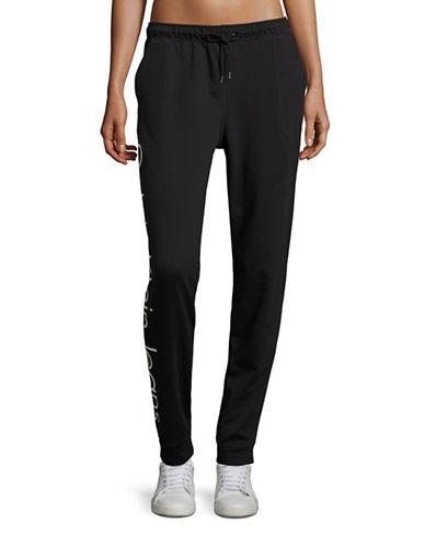 Calvin Klein Jeans Logo Jogger Pants-BLACK-Large 88846675_BLACK_Large