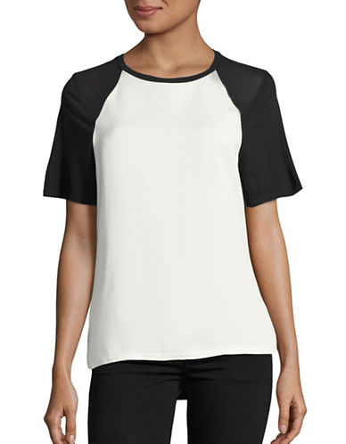 Calvin Klein Jeans Studded Mixed Media Top-BLACK-Small 88846678_BLACK_Small