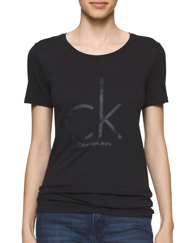Calvin Klein Jeans Short Sleeve Logo Tee-BLACK-Small 88870862_BLACK_Small