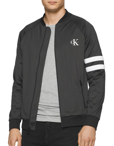 Calvin Klein Jeans Zip-Up Track Jacket-BLACK-X-Large 88776324_BLACK_X-Large