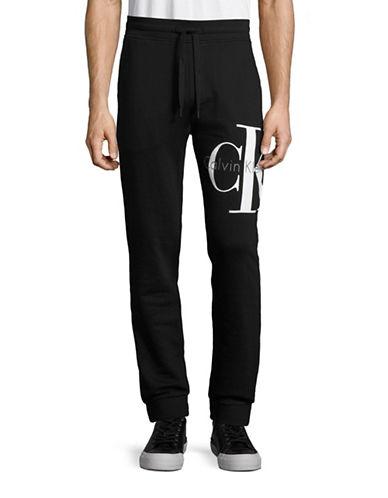 Calvin Klein Jeans Signature Logo Jogger Pants-BLACK-X-Large 88776344_BLACK_X-Large