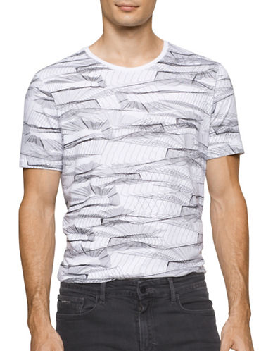 Calvin Klein Jeans Wire Printed T-Shirt-WHITE-Medium 88872201_WHITE_Medium