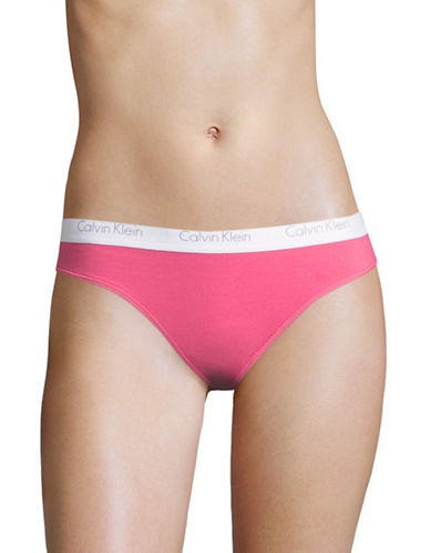 Calvin Klein One Cotton-Blend Thong-DESERT SUNSET-Large
