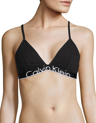 Calvin Klein ID Unlined Triangle Bra-BLACK-X-Large