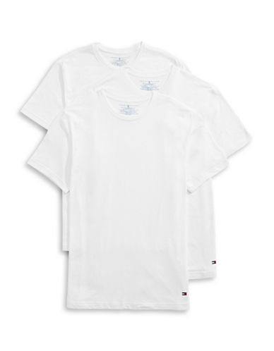 Tommy Hilfiger Three-Pack Classic Crew Neck Tees-WHITE-Medium