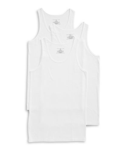 Tommy Hilfiger Three-Pack Classic Tanks-WHITE-Small