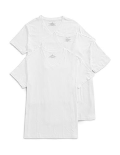 Tommy Hilfiger Three-Pack Classic V-Neck Tees-WHITE-Small