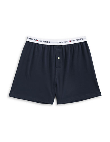 Tommy Hilfiger Athletic Knit Boxer Shorts-DARK NAVY-Large