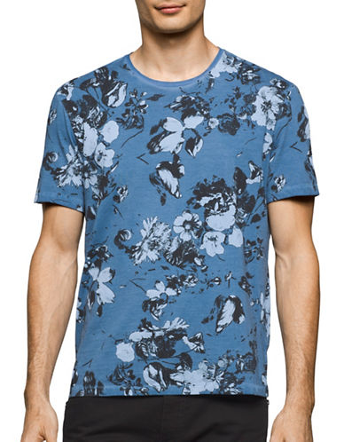Calvin Klein Jeans Washed Flora T-Shirt-BLUE-Small 89089554_BLUE_Small