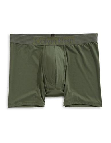 Calvin Klein Iron Strength Microfibre Boxer Brief-GREEN-Small