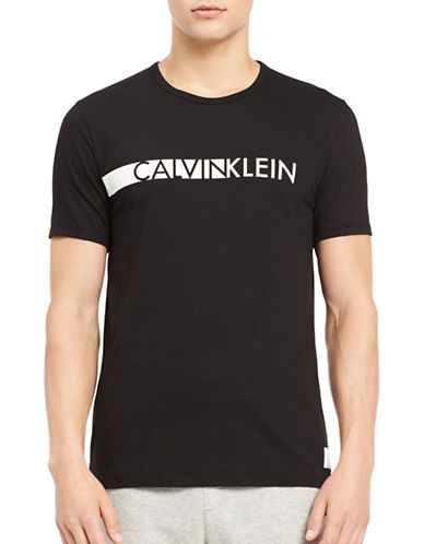 Calvin Klein Logo T-Shirt-BLACK-Small