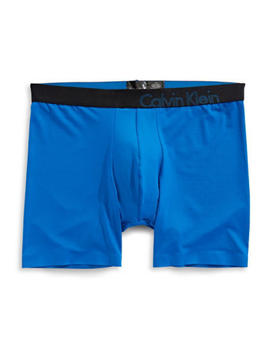 Calvin Klein Tech Fusion Microfibre Boxer Briefs-DEEP BLUE-Small