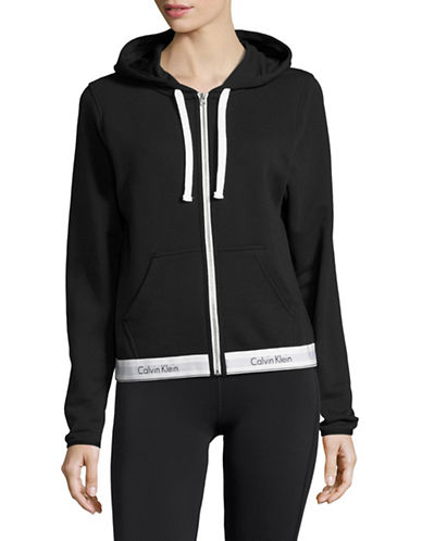 Calvin Klein Zip-Up Hoodie-BLACK-X-Small 88929911_BLACK_X-Small