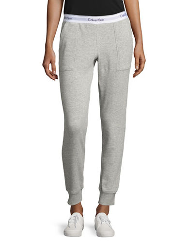 Calvin Klein Logo Waist Sweatpants-GREY HEATHER-X-Large 88929930_GREY HEATHER_X-Large