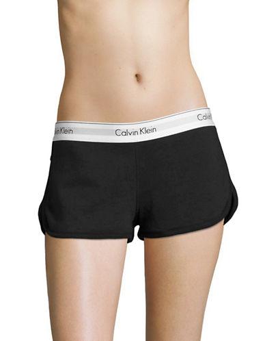Calvin Klein Cotton Sleep Shorts-BLACK-Medium 88929933_BLACK_Medium