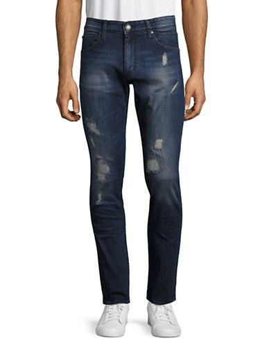 Calvin Klein Jeans Distressed Sculpted Slim Jeans-BLUE-38X32