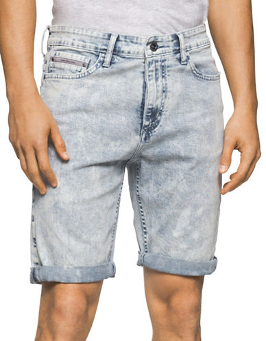 Calvin Klein Jeans Five-Pocket Shorts-LILAC-38