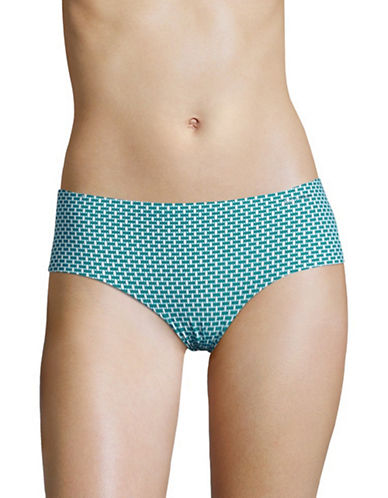 Calvin Klein Spotted Invisible Hipster Panties-OFFSET BLUE-X-Large