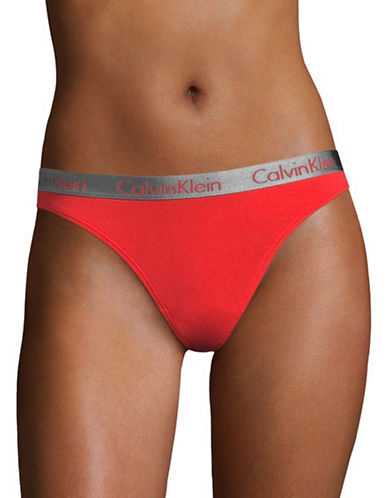 Calvin Klein Radiant Cotton Thong-SCANDAL-Medium