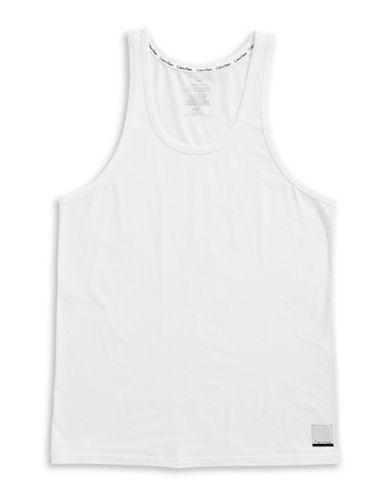 Calvin Klein ID Cotton Tank-WHITE-Small