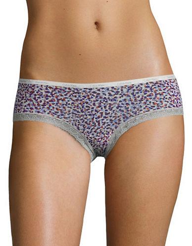 Calvin Klein Lace Trim Bikini Panty-DOT FLOWER PRINT-Large