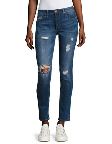 Calvin Klein Jeans Halsey Girlfriend Slim Leg Jeans-BLUE-32