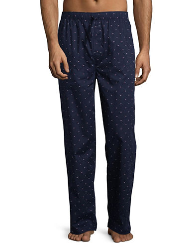 Tommy Hilfiger Woven Logo Lounge Pants-DARK NAVY-X-Large