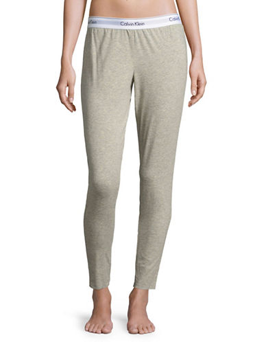 Calvin Klein Modern Cotton Sleep Pants-GREY HEATHER-Large